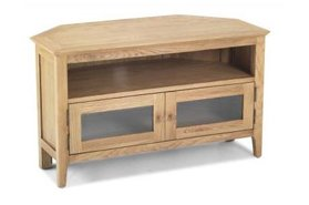 Watford Oak Corner TV Unit with Doors