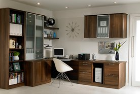 Fitted Office Walnut