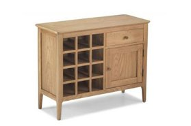 Watford Oak Wine Rack Sideboard